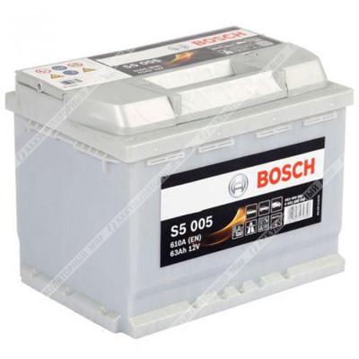 Аккумулятор BOSCH S5 005 63 Ач о.п.