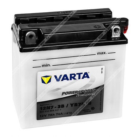Аккумулятор Варта мото FP 7 Ач о.п. (12N7-3B) 507 012 004